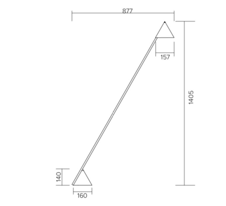 Hat gwendolyn et guillane kerschbaumer lampadaire floor light  atelier areti 444ol f01 me01   design signed nedgis 73444 product
