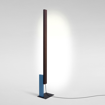 Lampadaire high line wenge bleu led 2700k 2040lm dimmable l32cm h189 5cm marset normal