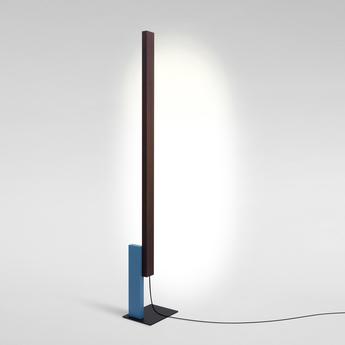 Lampadaire high line wenge bleu led 2700k 2040lm dimmable l32cm h189 5cm marset normal