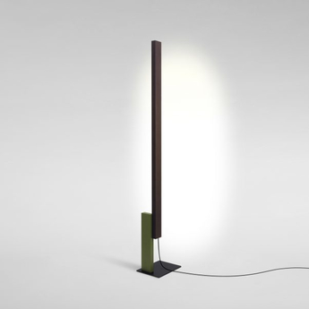 Lampadaire high line wenge vert led 2700k 2040lm dimmable l32cm h189 5cm marset normal