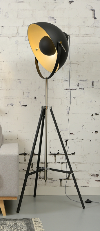 Lampadaire hollywood noir o68cm h183cm it s about romi normal