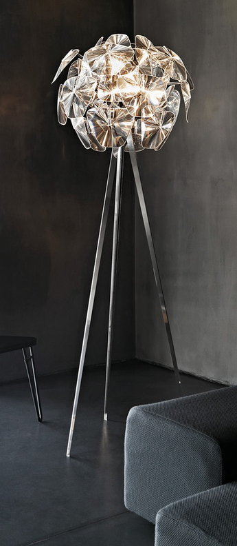 Lampadaire hope transparent o72cm h198cm luceplan normal