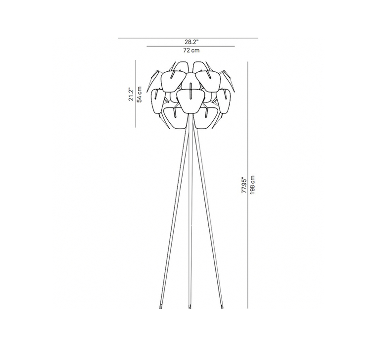Hope francisco gomez paz lampadaire floor light  luceplan 1d6618td0000 1d6618t01019  design signed nedgis 78473 product