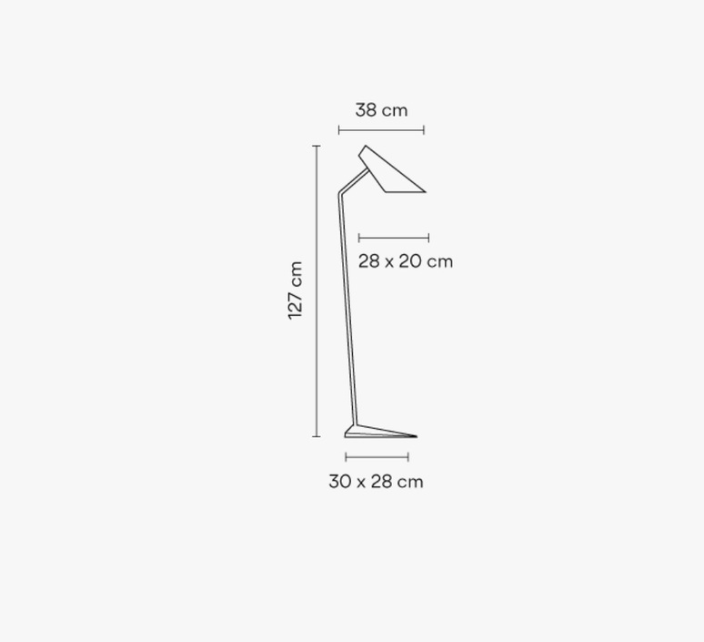I cono 0712 lievore altherr molina lampadaire floor light  vibia 71210  design signed nedgis 90360 product