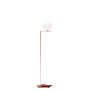 Lampadaire ic lights floor 1 opalin et rouge burgundy o27 5cm h135cm flos normal