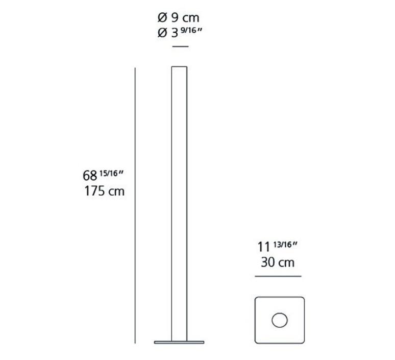 Ilio ernesto gismondi lampadaire floor light  artemide 1640w20a  design signed 61216 product