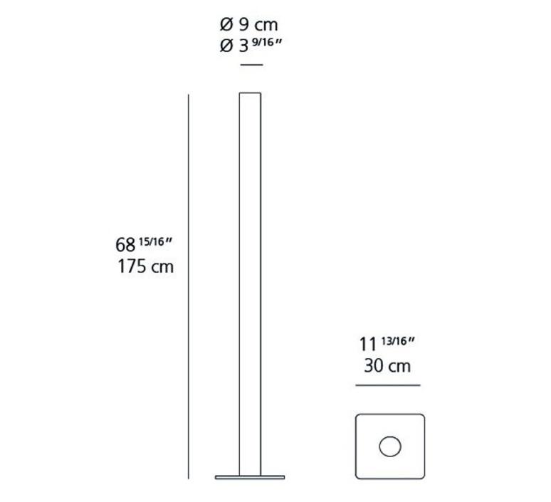 Ilio ernesto gismondi lampadaire floor light  artemide 1640w50a  design signed 61226 product