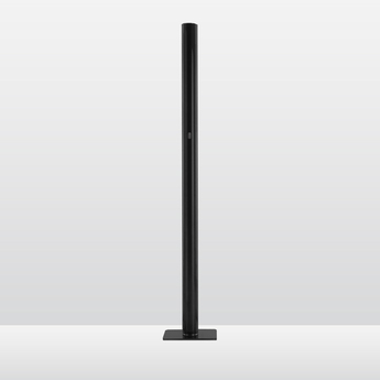 Lampadaire ilio noir led 2700k 3332lm dimmable o30cm h175cm artemide normal