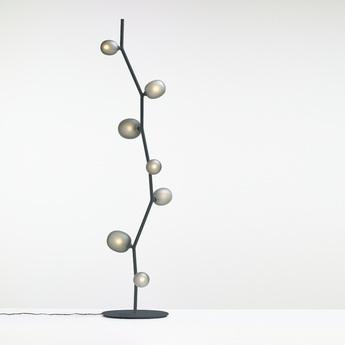 Lampadaire ivy verre fume metal o39cm h170 5cm brokis normal