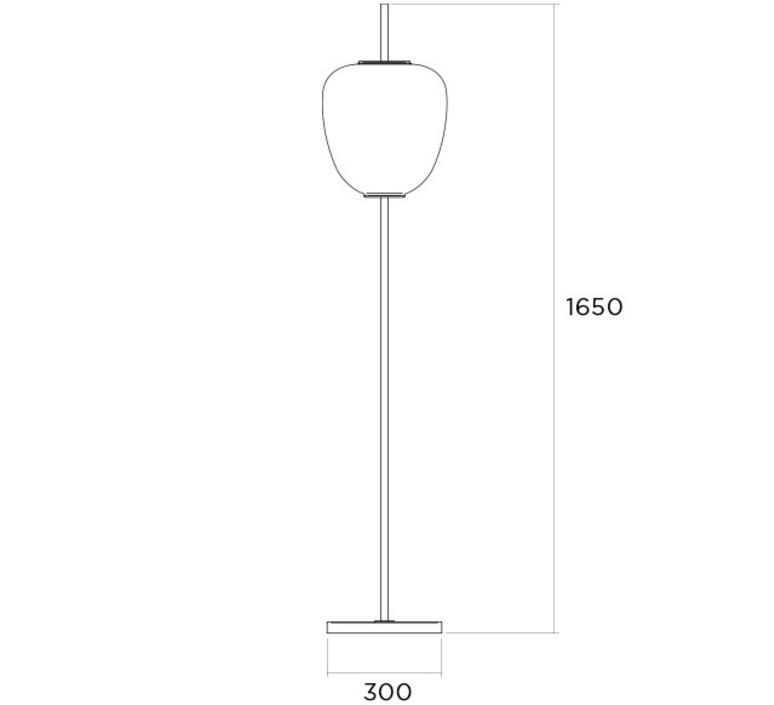 J14 joseph andre motte lampadaire floor light  disderot j14 ch  design signed nedgis 82998 product