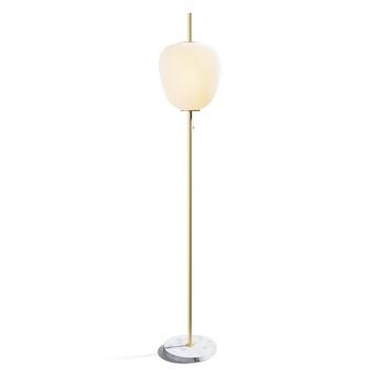 Lampadaire j14 grand modele laiton verre opalin o30cm h185cm disderot normal