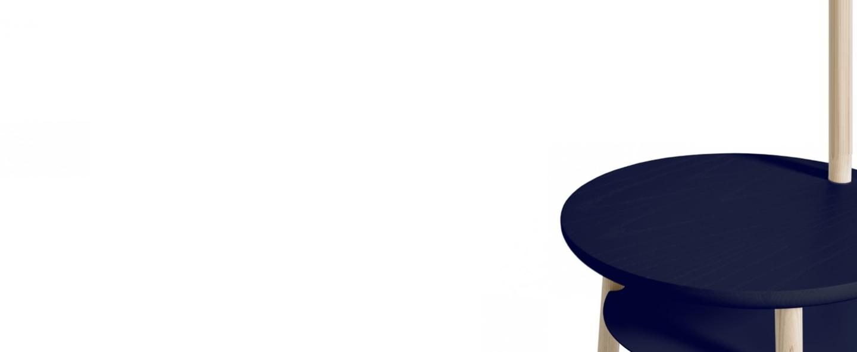 Lampadaire josette bleu marine h140cm harto normal