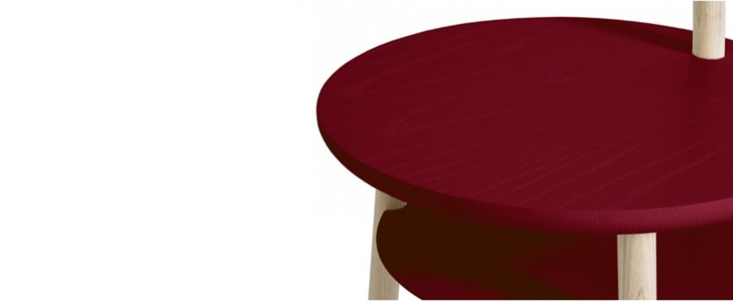 Lampadaire josette bordeaux h140cm harto normal