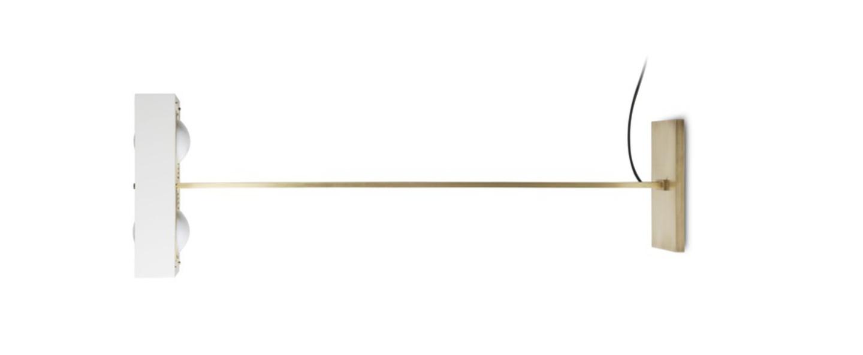 Lampadaire kernel blanc led l40cm h130cm bert frank normal