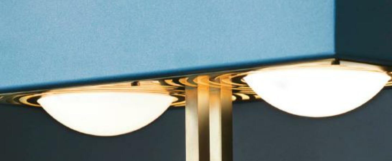Lampadaire kernel bleu led l40cm h130cm bert frank normal