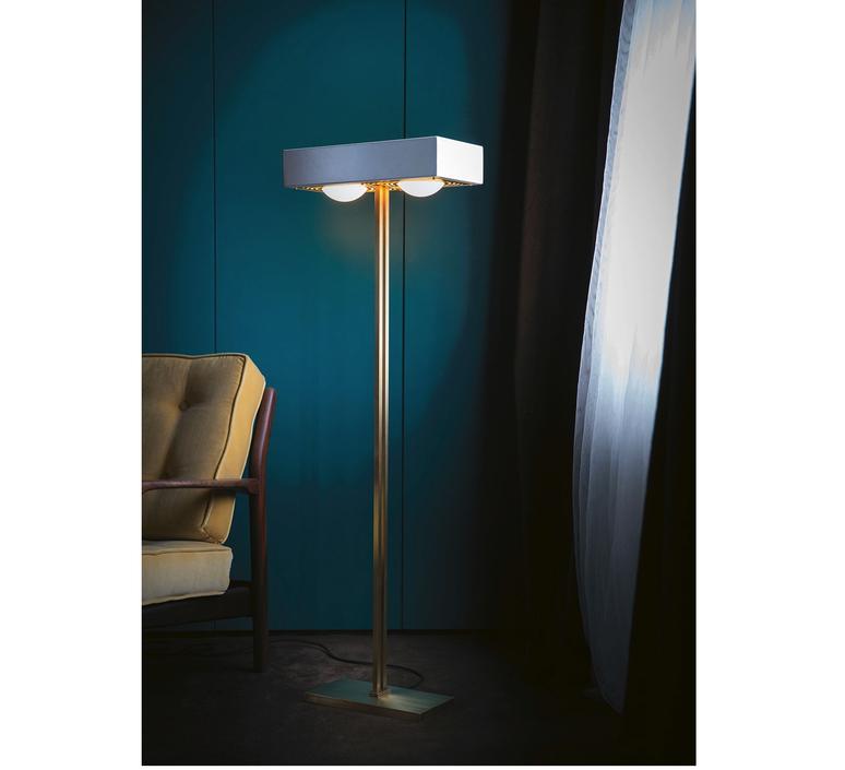 Kernel robbie llewellyn adam yeats lampadaire floor light  bert frank kernel floor lamp blue  design signed 124777 product