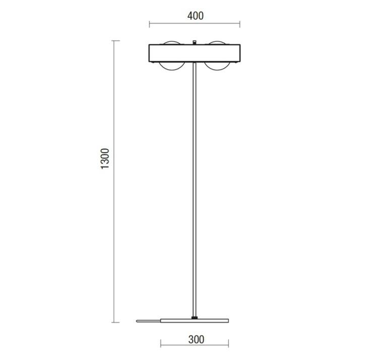 Kernel robbie llewellyn adam yeats lampadaire floor light  bert frank kernel floor lamp black  design signed 35976 product