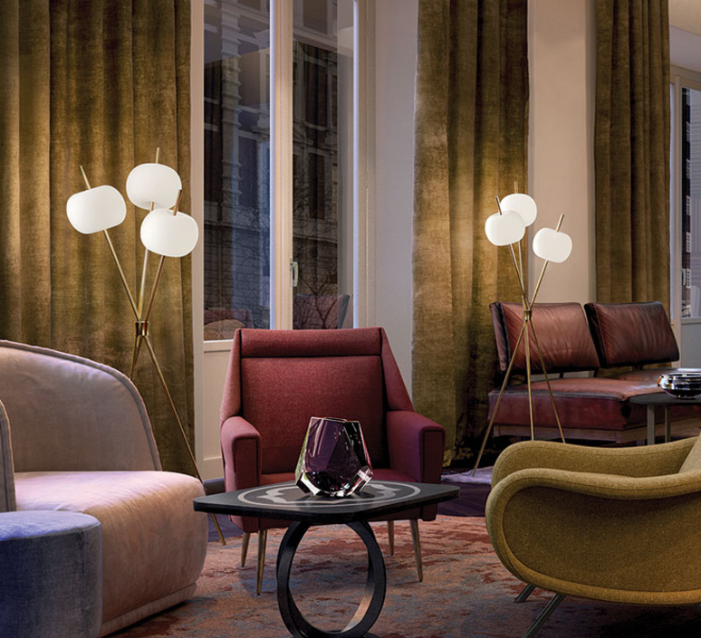 Kushi alberto saggia et valero sommela lampadaire floor light  kundalini k2281059o  design signed 38763 product