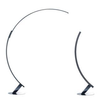 Lampadaire kyudo chrome led l42cm h212cm kundalini normal