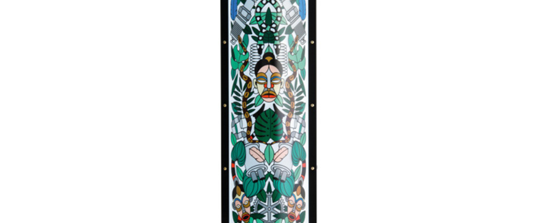 Lampadaire l afrique vert led o37cm h160cm slamp normal
