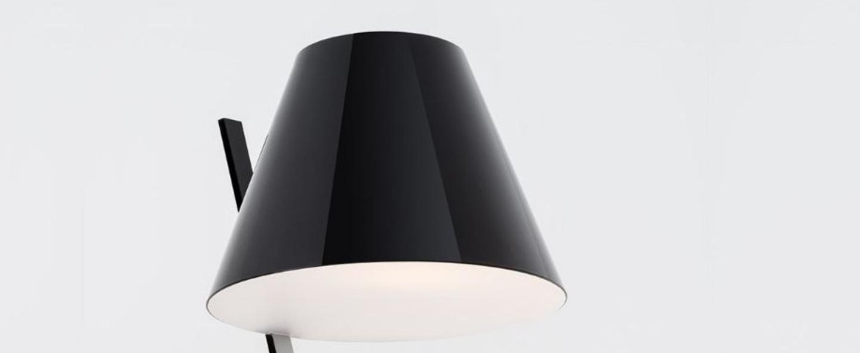 Lampadaire la petite floor noir o30cm h160cm artemide normal