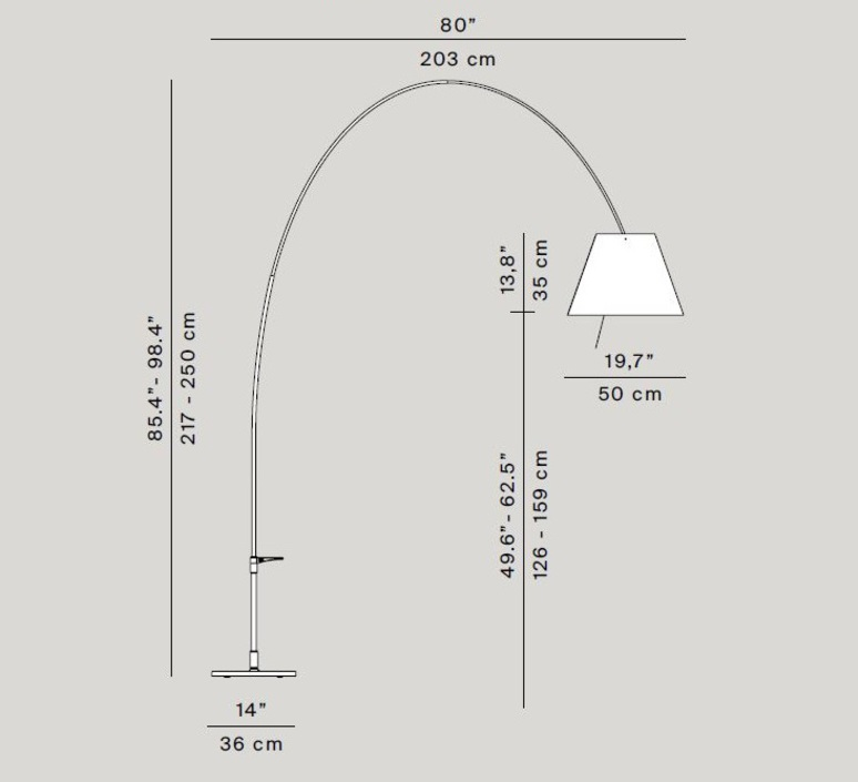 Lady costanza d13e d  lampadaire floor light  luceplan 1d13ged00020 1d13ge 01002  design signed 54833 product