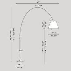Lady costanza d13e d  lampadaire floor light  luceplan 1d13ged00020 1d13ge 01002  design signed 54833 thumb