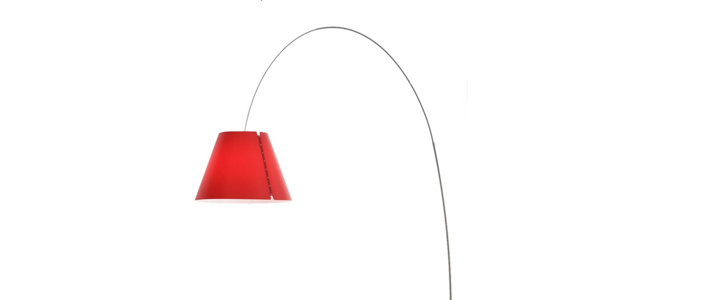 Lampadaire lady costanza d13e d rouge led l203cm h250cm luceplan normal