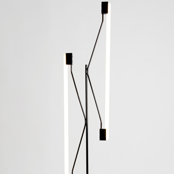 Lampadaire lampadaire 2 tubes noir noir o34 3cm h165cm atelier areti normal