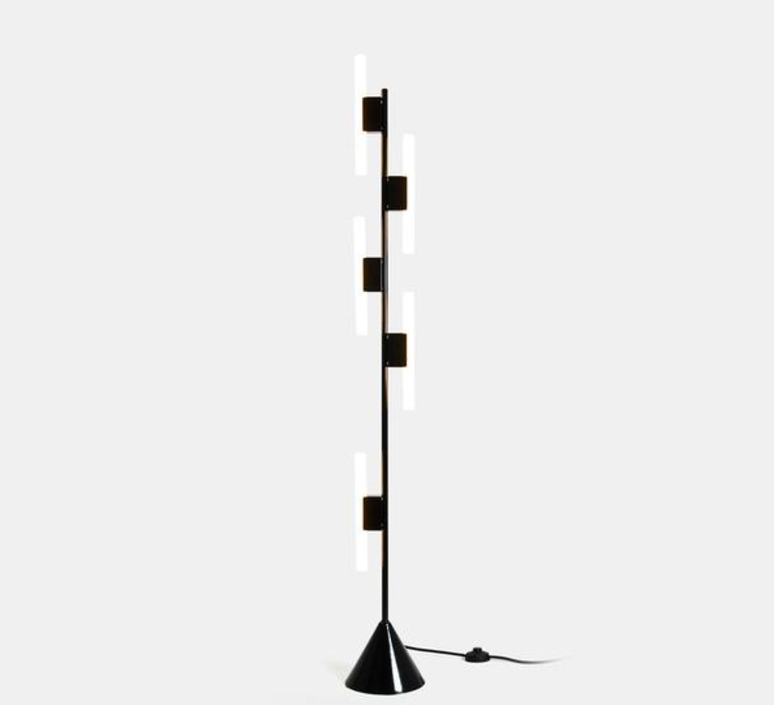Lampadaire 5 tubes noir gwendolyn et guillane kerschbaumer lampadaire floor light  areti floor lamp 5 tubes black  design signed nedgis 63768 product