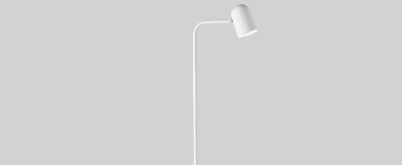 Lampadaire lampadaire buddy blanc l12 2cm h130cm northern normal