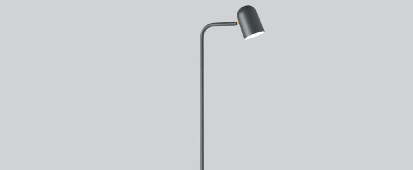 Lampadaire lampadaire buddy gris l12 2cm h130cm northern normal