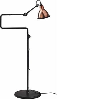 Lampadaire lampe gras 411 noir cuivre h120cm l36cm a 72cm dcw editions normal