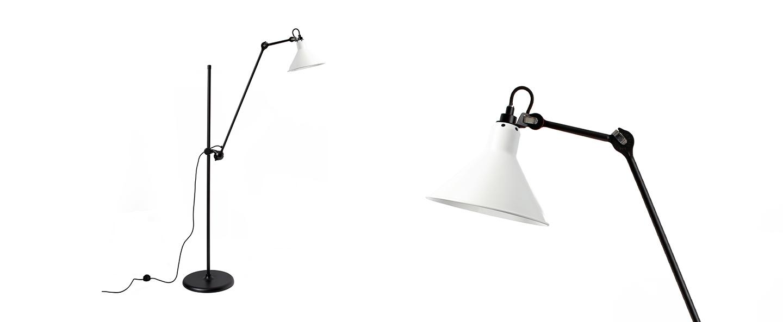 Lampadaire lampe gras n 215 blanc interieur blanc l32cm h150cm dcw editions paris normal