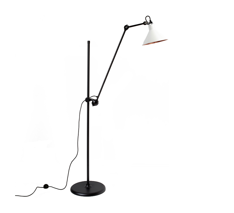 Lampe gras n 215 bernard albin gras lampadaire floor light  dcw n 215 bl wh cop conic  design signed nedgis 105816 product