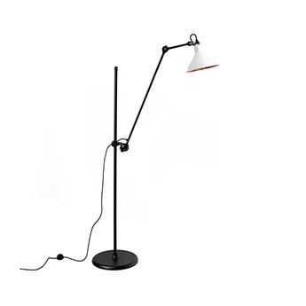 Lampadaire lampe gras n 215 blanc interieur cuivre l32cm h150cm dcw editions paris normal