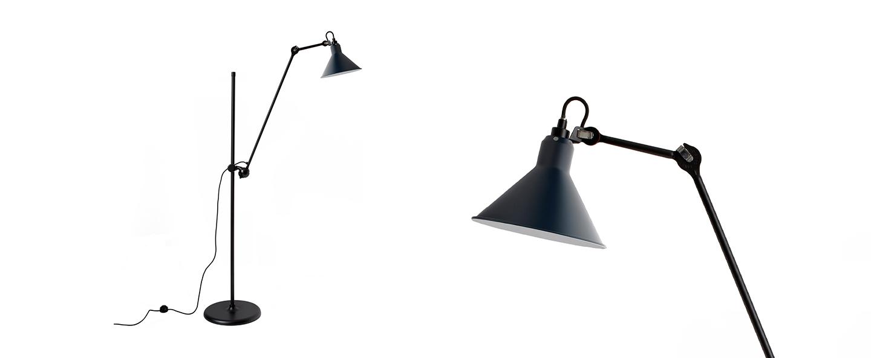 Lampadaire lampe gras n 215 bleu interieur blanc l32cm h150cm dcw editions paris normal