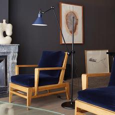 Lampe gras n 215 bernard albin gras lampadaire floor light  dcw n 215 bl blue conic  design signed nedgis 105777 thumb