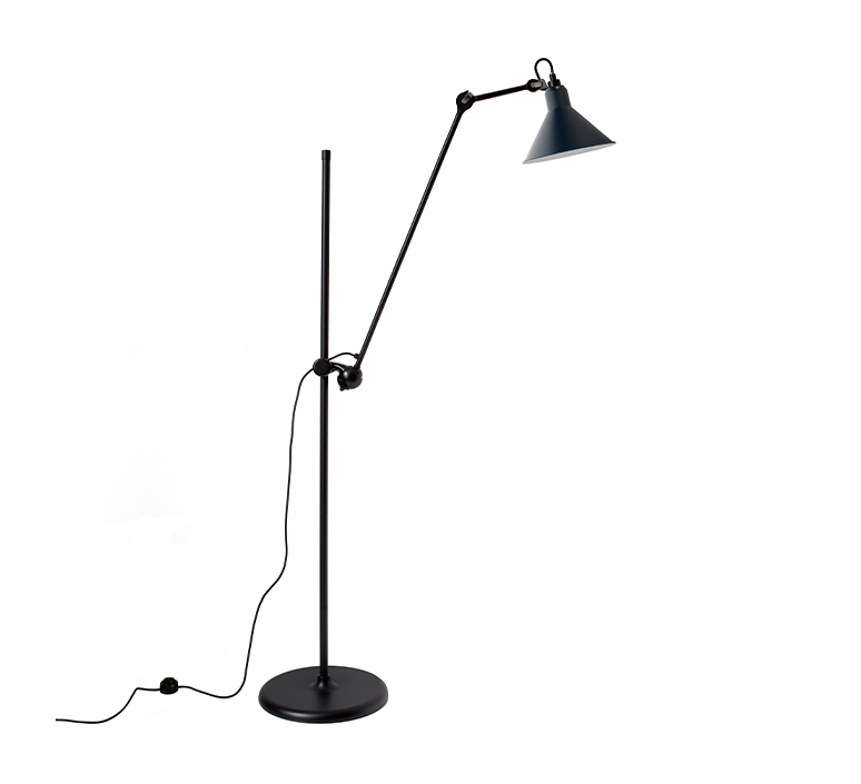 Lampe gras n 215 bernard albin gras lampadaire floor light  dcw n 215 bl blue conic  design signed nedgis 105779 product