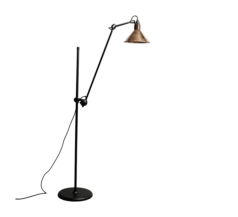 Lampe gras n 215 bernard albin gras lampadaire floor light  dcw n 215 bl cop raw conic  design signed nedgis 105805 product