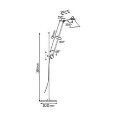 Lampe gras n 215 bernard albin gras lampadaire floor light  dcw n 215 bl cop raw conic  design signed nedgis 105806 thumb