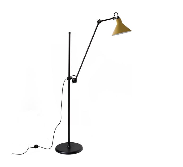 Lampe gras n 215 bernard albin gras lampadaire floor light  dcw n 215 bl yellow conic  design signed nedgis 105826 product