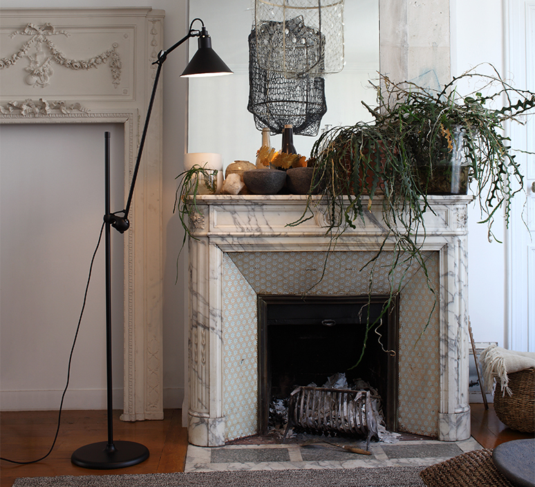 Lampe gras n 215 bernard albin gras lampadaire floor light  dcw n 215 bl bl conic  design signed nedgis 105763 product