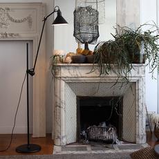 Lampe gras n 215 bernard albin gras lampadaire floor light  dcw n 215 bl bl conic  design signed nedgis 105763 thumb