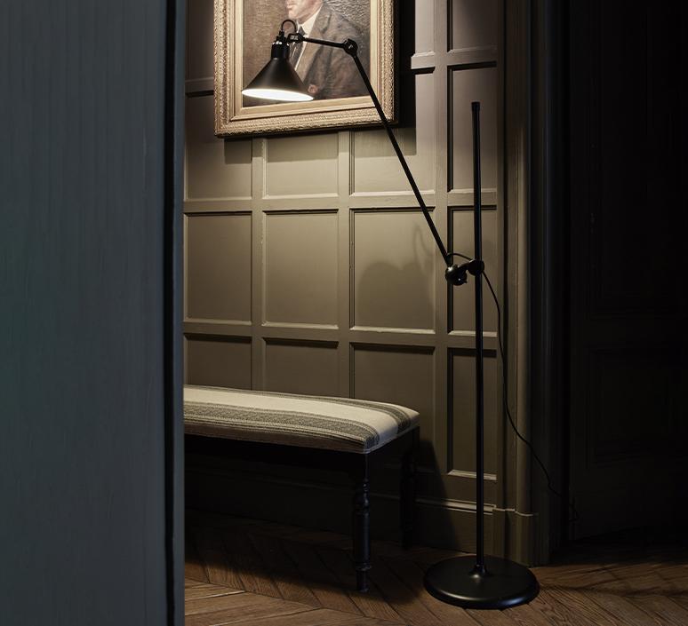 Lampe gras n 215 bernard albin gras lampadaire floor light  dcw n 215 bl bl conic  design signed nedgis 105764 product