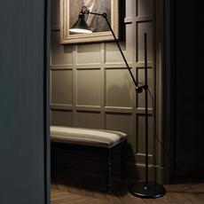 Lampe gras n 215 bernard albin gras lampadaire floor light  dcw n 215 bl bl conic  design signed nedgis 105764 thumb