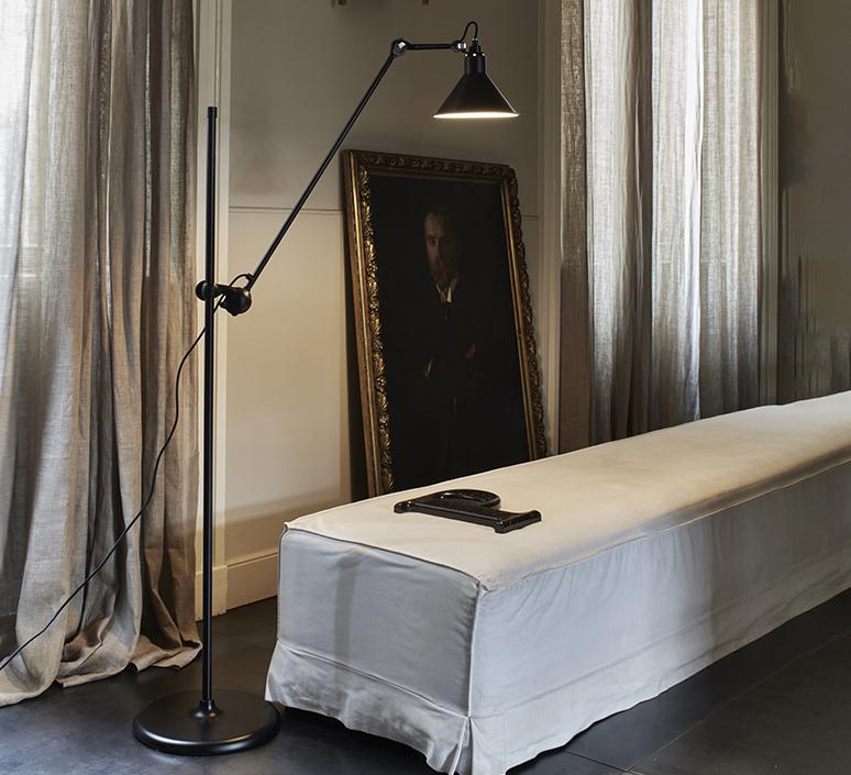 Lampe gras n 215 bernard albin gras lampadaire floor light  dcw n 215 bl bl conic  design signed nedgis 105765 product