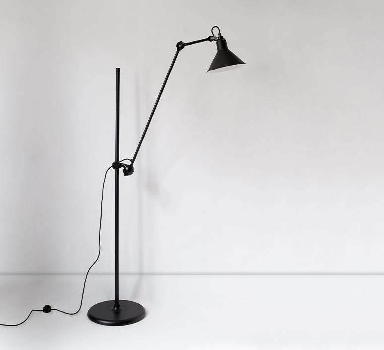 Lampe gras n 215 bernard albin gras lampadaire floor light  dcw n 215 bl bl conic  design signed nedgis 105766 product