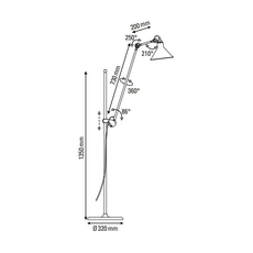 Lampe gras n 215 bernard albin gras lampadaire floor light  dcw n 215 bl bl conic  design signed nedgis 105768 thumb