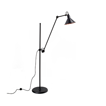Lampadaire lampe gras n 215 noir interieur cuivre l32cm h150cm dcw editions paris normal